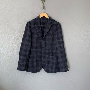 Uniqlo men's plaid wool sport coat medium